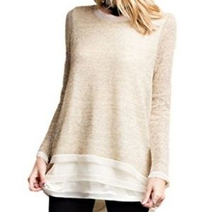 Easle Scoop Neck Pullover Tunic Sweater